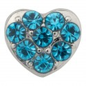 Heart with Blue Crystals Floating Charm