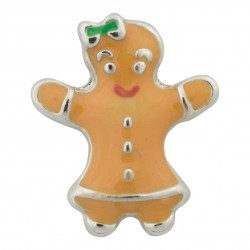 Gingerbread Man Floating Charm