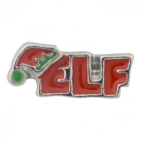 Elf Text Floating Charm