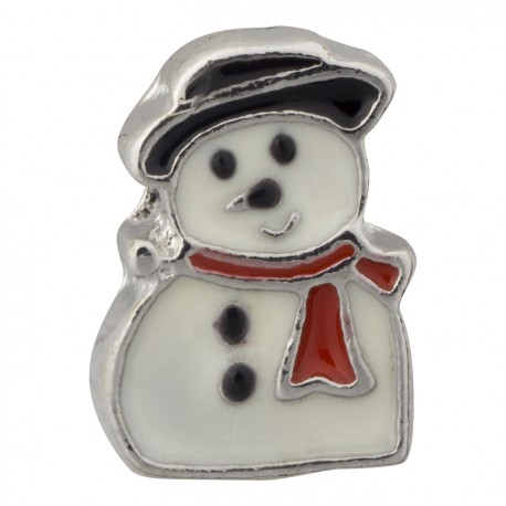 Snowman Floating Charm