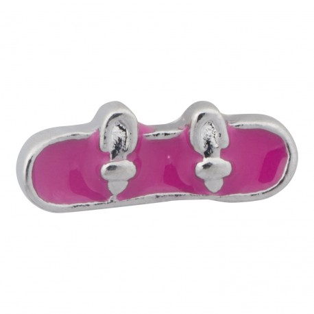 Snowboard - Pink Floating Charm