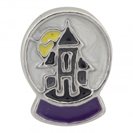Spooky House Floating Charm