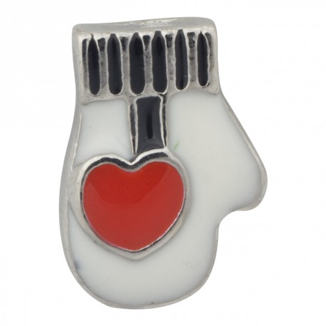 Mitten with Heart Floating Charm