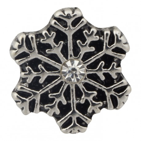 Snowflake with Crystal Floating Charm