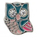 Owl with Crystals Floating Charm