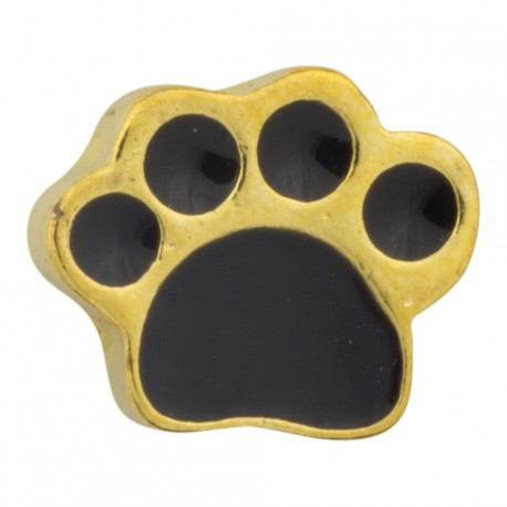 Paw Print - Gold Floating Charm