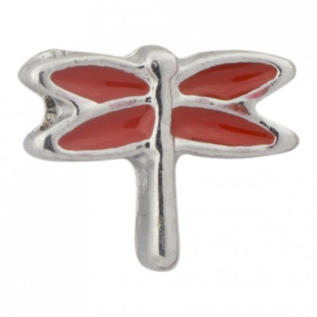 Dragonfly - Red Floating Charm