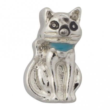 Kitty Cat - Turquoise Collar Floating Charm