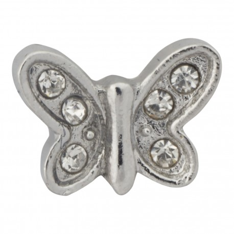 Butterfly with Crystals Floating Charm