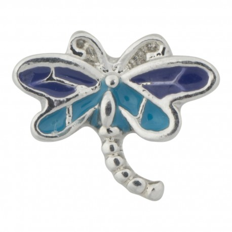 Dragonfly - Purple and Blue Floating Charm