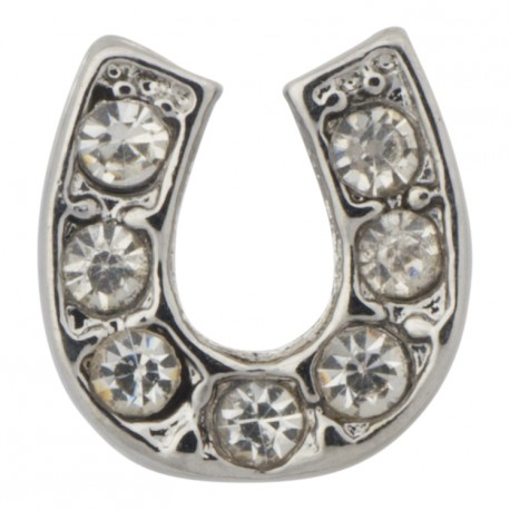 Horseshoe with Crystals Floating Charm
