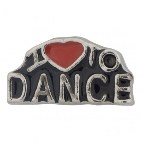 I Love to Dance Floating Charm
