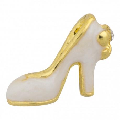 High Heel - White Floating Charm