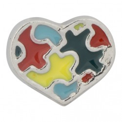 Heart - Autism Awareness Floating Charm
