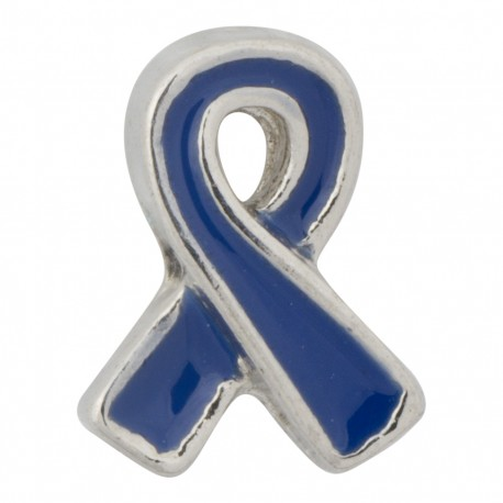 Awareness Ribbon - Blue Floating Charm