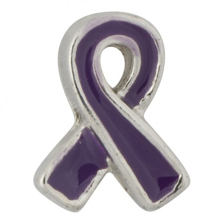 Awareness Ribbon - Purple Floating Charm