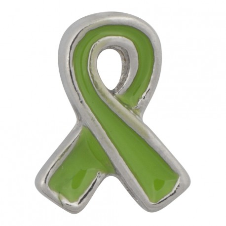 Awareness Ribbon - Green Floating Charm
