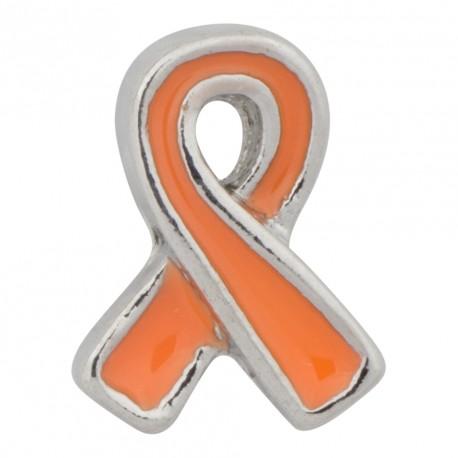 Awareness Ribbon - Orange Floating Charm