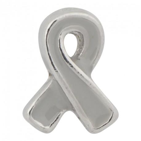 Awareness Ribbon - Gray Floating Charm
