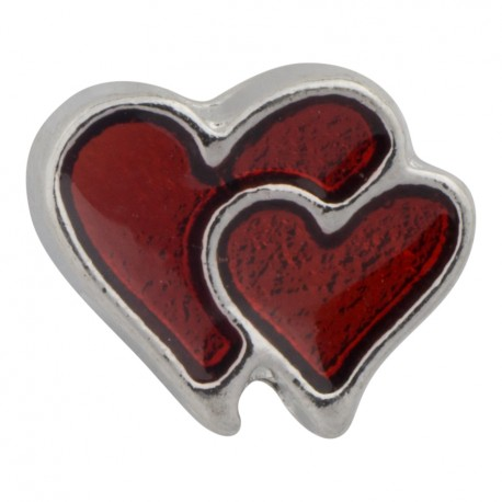Hearts Floating Charm