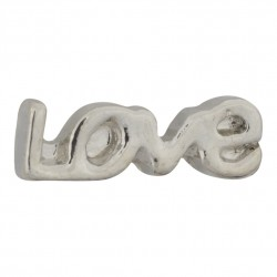 Love Text - Silver Floating Charm