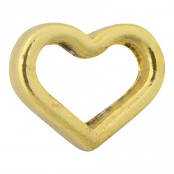Heart - Hollow - Gold Floating Charm