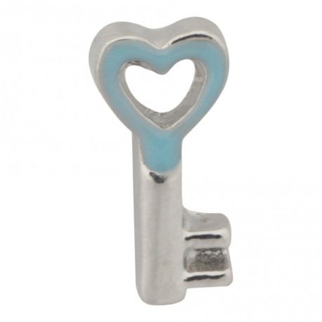 Key to My Heart - Turquoise Floating Charm