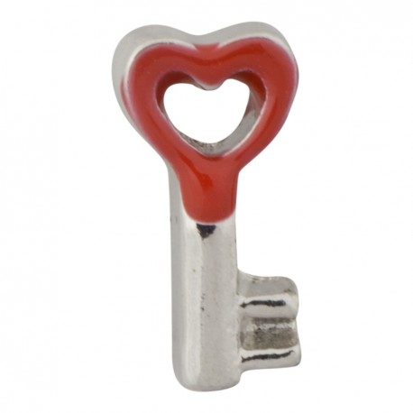 Key to My Heart - Red Floating Charm