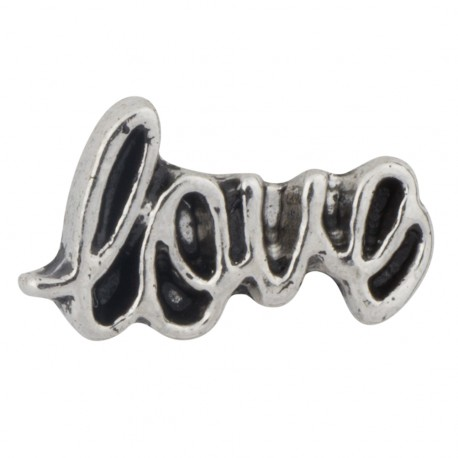Love Text Floating Charm