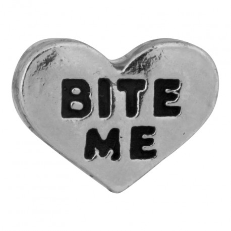 Heart - Bite Me Floating Charm