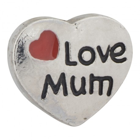 Heart - Love Mum Floating Charm
