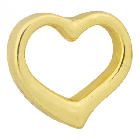 Heart - Gold Floating Charm