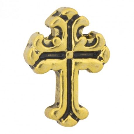 Cross - Gold Floating Charm