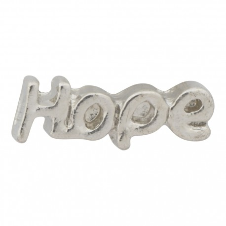 Hope Text Floating Charm