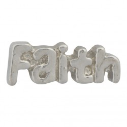 Faith Floating Charm