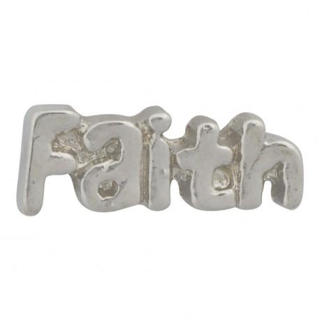 Faith Floating Charm