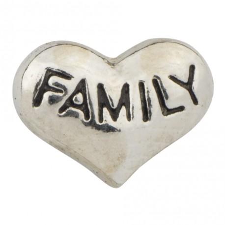 Heart - Family Floating Charm