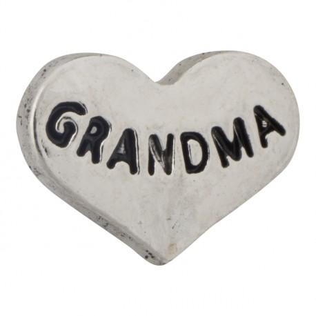 Heart - Grandma Floating Charm