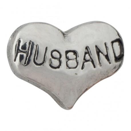 Heart - Husband Floating Charm
