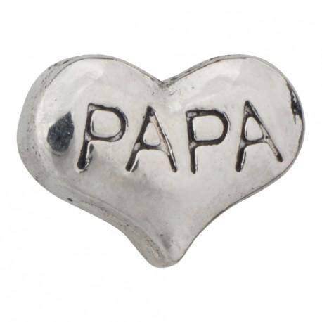 Heart - Papa Floating Charm