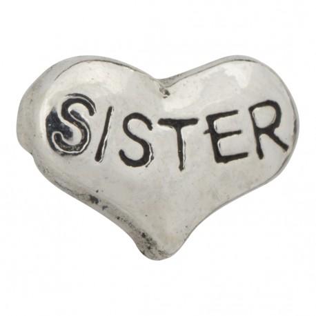 Heart - Sister Floating Charm