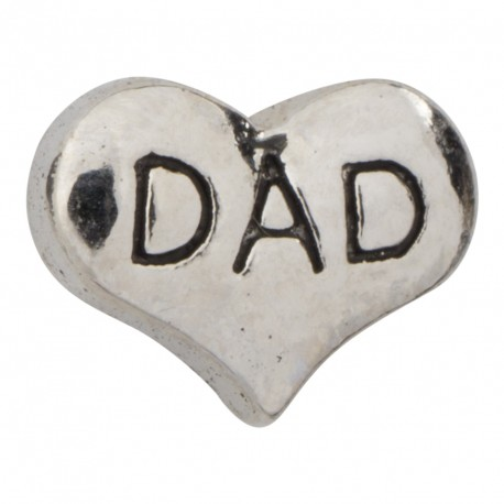 Heart - Dad Floating Charm