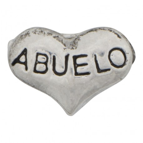 Abuelo Heart Floating Charm