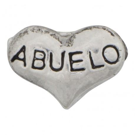 Abuelo Heart Floating Charm