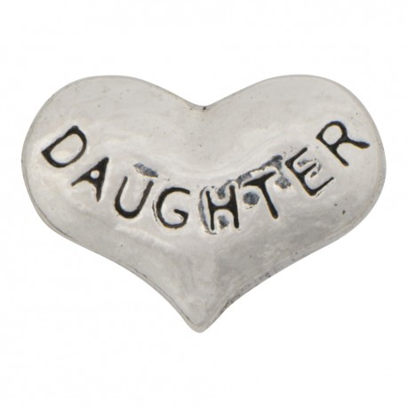 Heart - Daughter Floating Charm