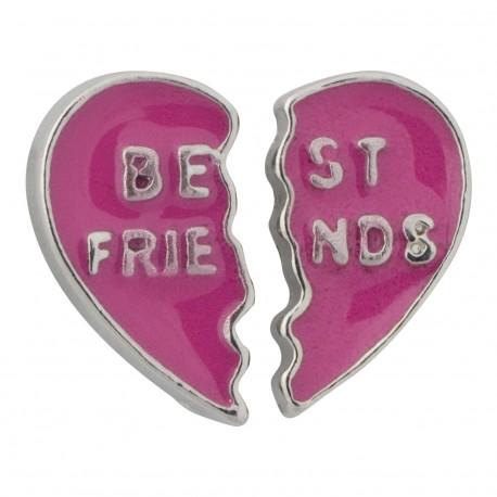Best Friends Broken Heart Floating Charm