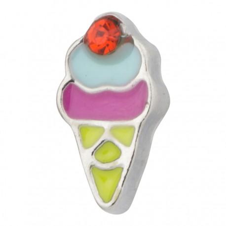 Ice Cream Cone Floating Charm
