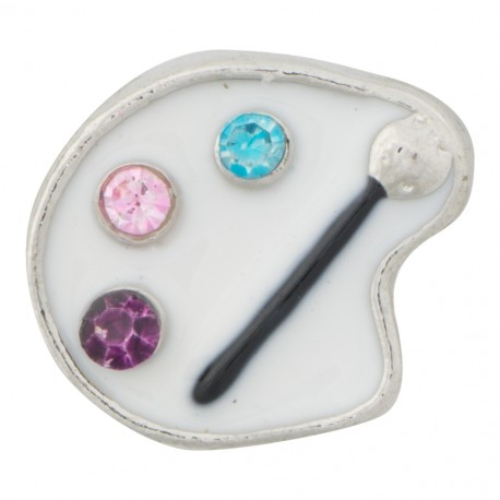 Painting Palette - Artist Floating Charm