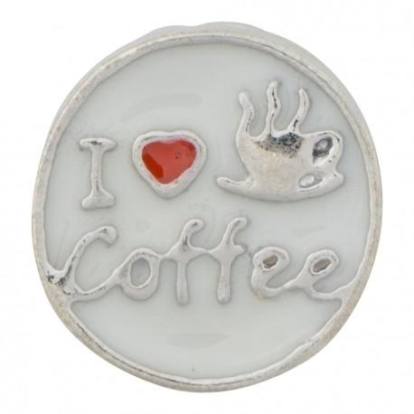I Love Coffee Floating Charm