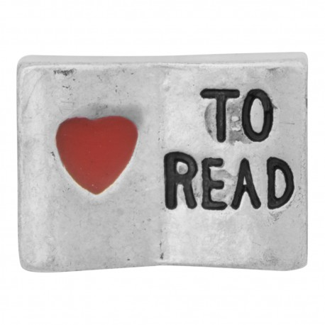 Love to Read Book Floating Charm